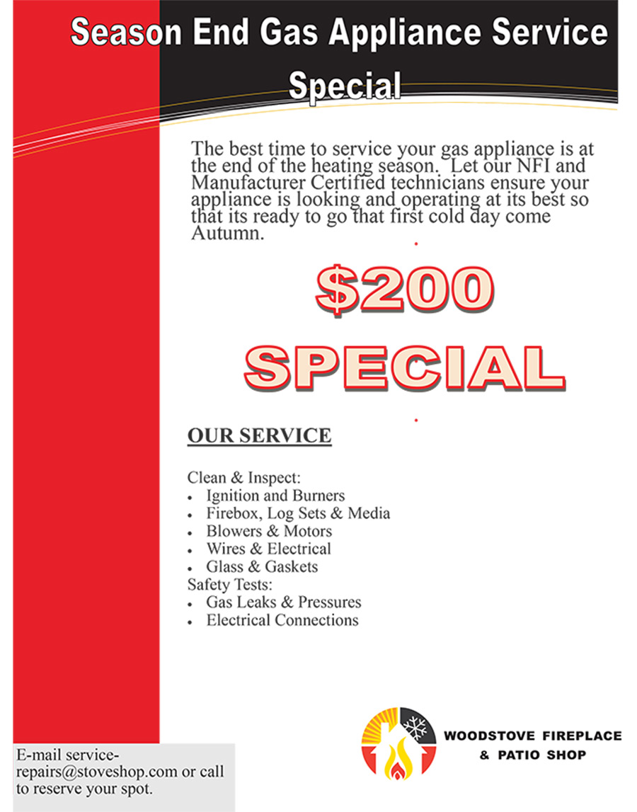 Season End Gas Appliance Service Special