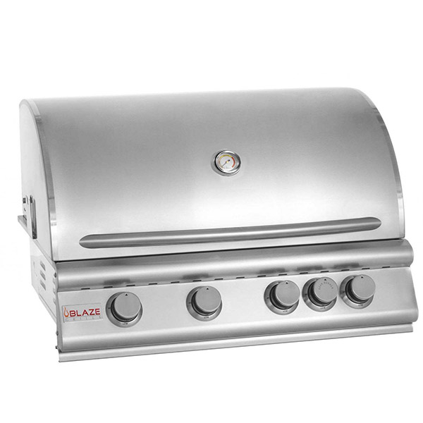 Blaze 32 Inch 4-Burner Grill with Rear Burner