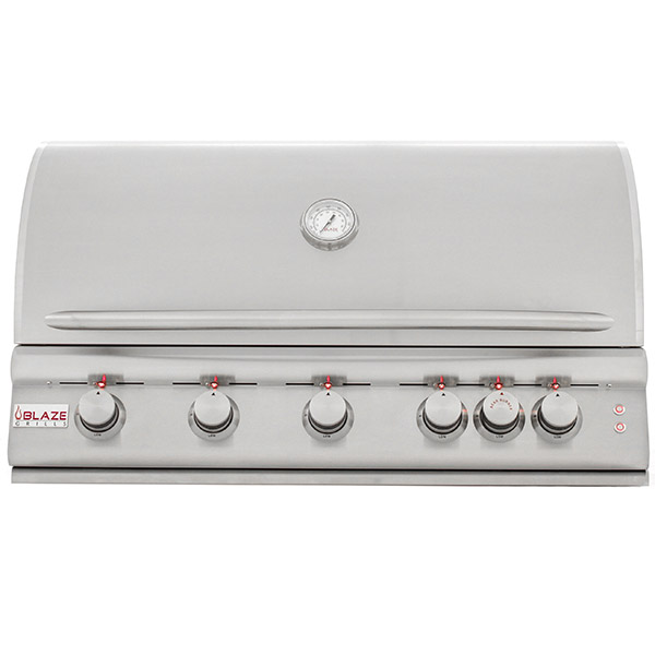 Blaze 40 Inch 5-Burner LTE Gas Grill with Rear Burner