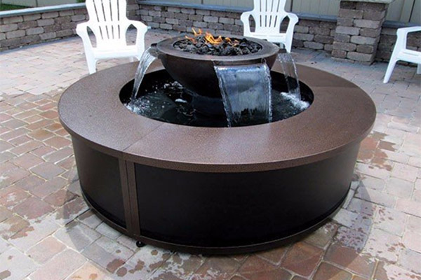 Copper Enclosure for Evolution 360 and H2Onfire fire and water features