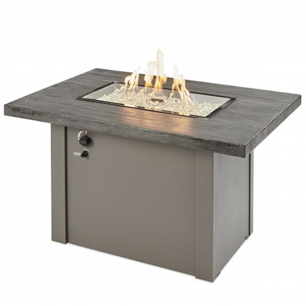 Driftwood Havenwood Gas Fire Pit Table with Grey Base<br />