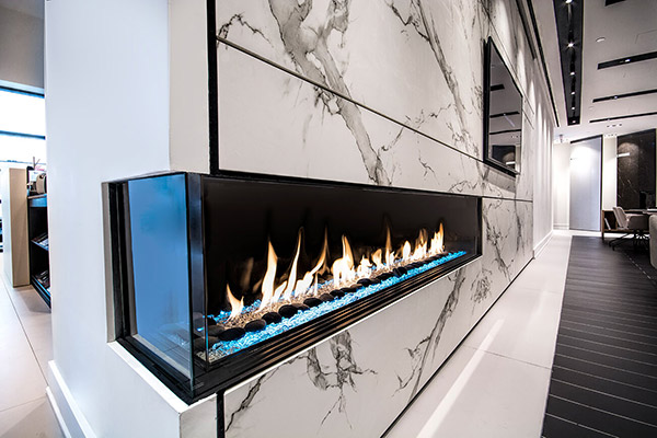 Flare Left Corner Modern Fireplace