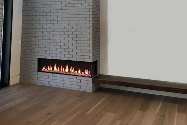 Flare Right Corner Modern Fireplace