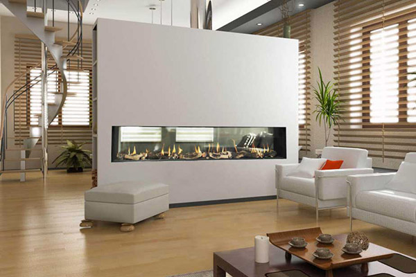 Flare See Through - Modern Linear Fireplaces