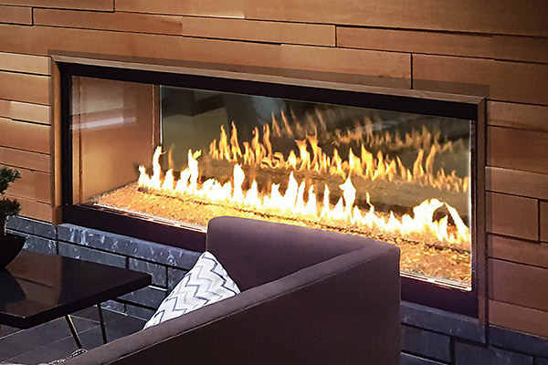 Foundation See-Through Gas Fireplaces