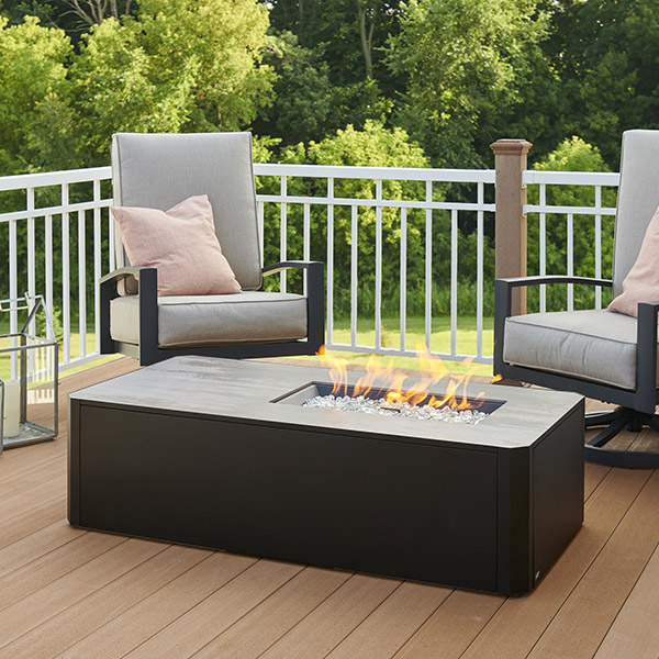 Kinney Linear Gas Fire Pit Table<br />