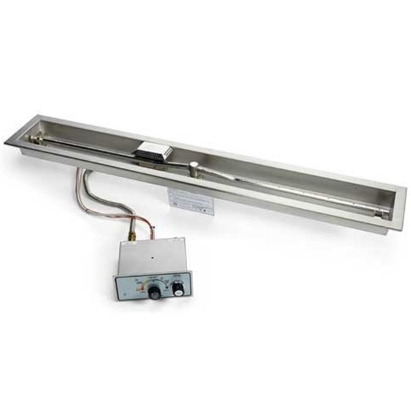 Linear Trough Fire Pit Insert – Push Button / Flame Sensing