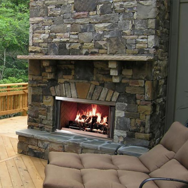 Montana Wood Fireplace