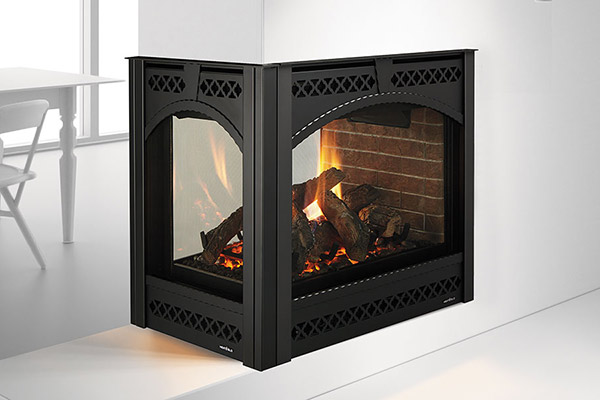 Pier See Through Gas Fireplace