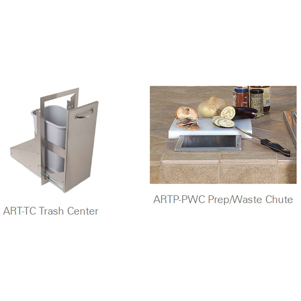 Prep/Waste Chute and Trash Center