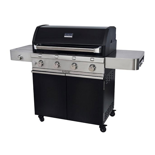 Cast Black 4-Burner Gas Grill R67CC1117