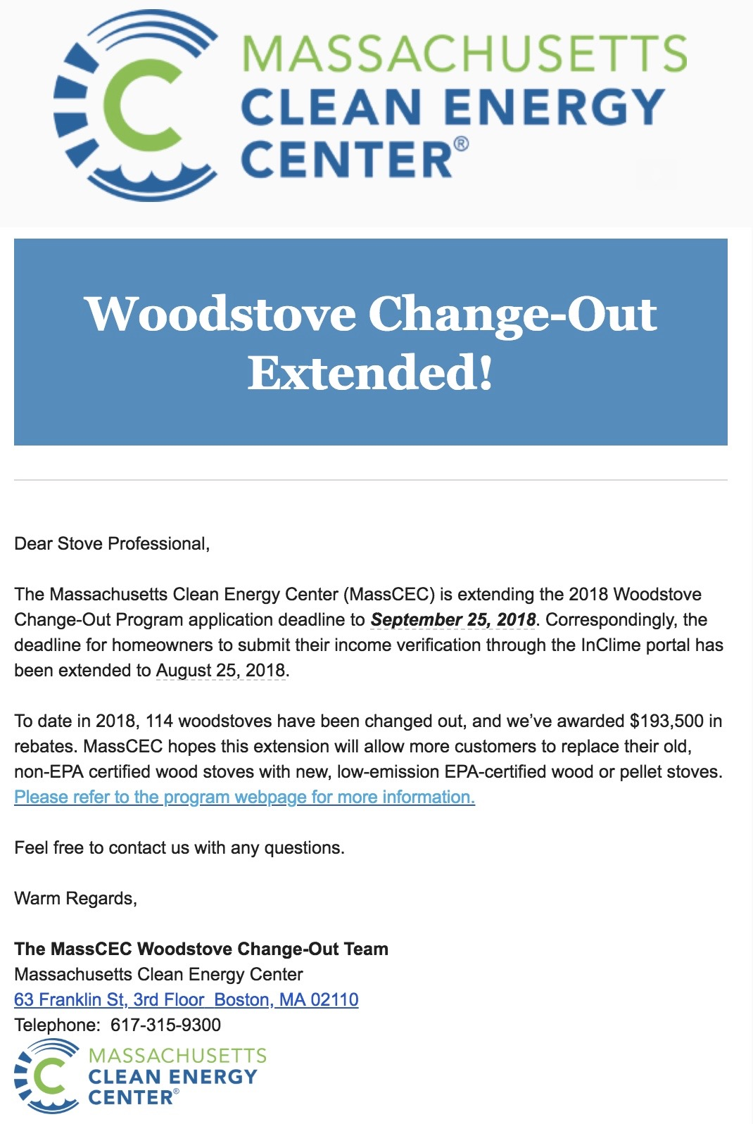 Woodstove Fireplace and Patio Shop - 2018 Woodstove Change-Out Program Extension